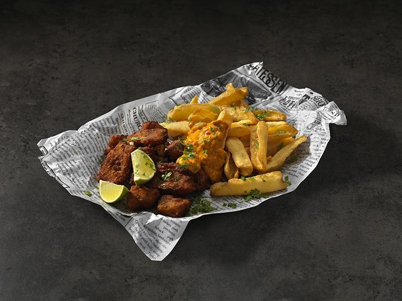 Recept voor Fish & Chips met Oranje Brulsaus
